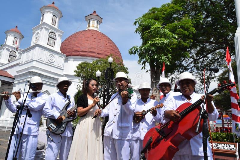 De schoonheid van de oude stad van Semarang royalty-vrije stock foto
