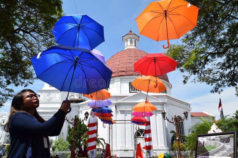 De schoonheid van de oude stad van Semarang stock afbeelding