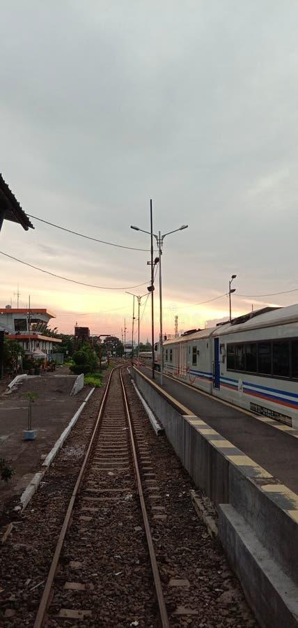 De schoonheid van Surabaya in Pasar Turi Station stock foto's