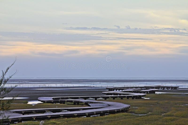 De schoonheid van Taiwan - Gaomei-het gebied van het moerasland royalty-vrije stock foto