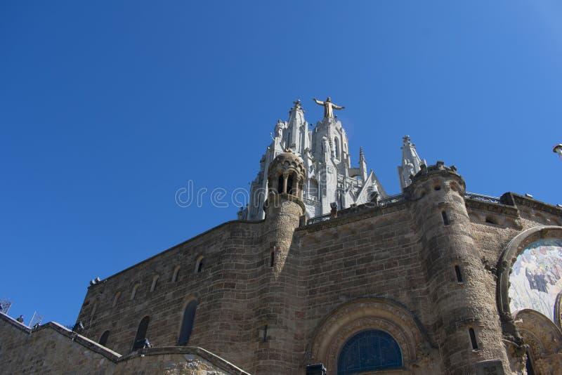 De schoonheid van de Tempel van het Heilige Hart in Barcelona stock afbeelding