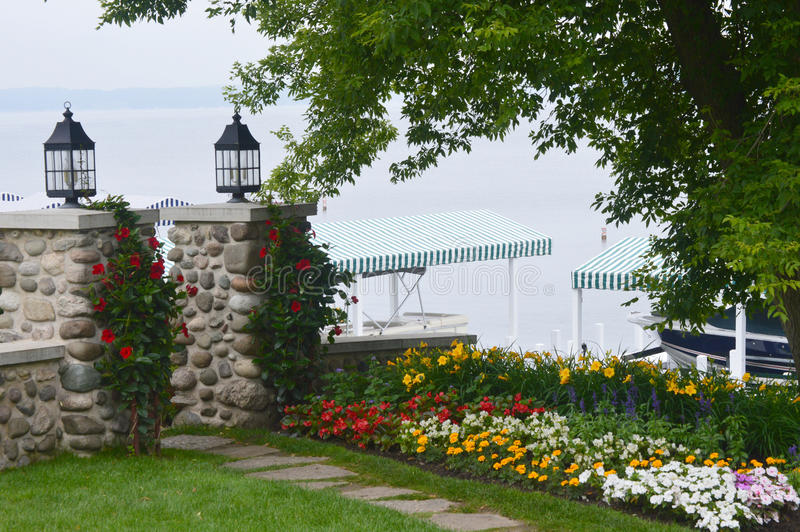 De Schoonheidsmeer Genève, WI van de kustweg royalty-vrije stock afbeeldingen