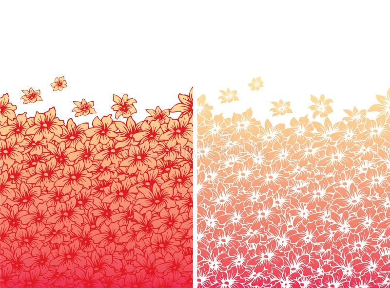 De schoonheidspatroon van de bloem royalty-vrije illustratie