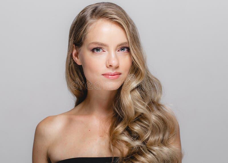 De schoonheidsportret van de vrouwen kosmetisch close-up, voor salon mooie peop royalty-vrije stock foto