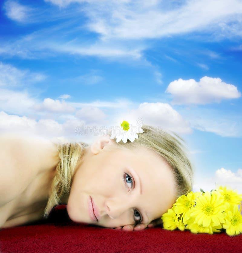 De schoonheidsportret van Wellness royalty-vrije stock foto