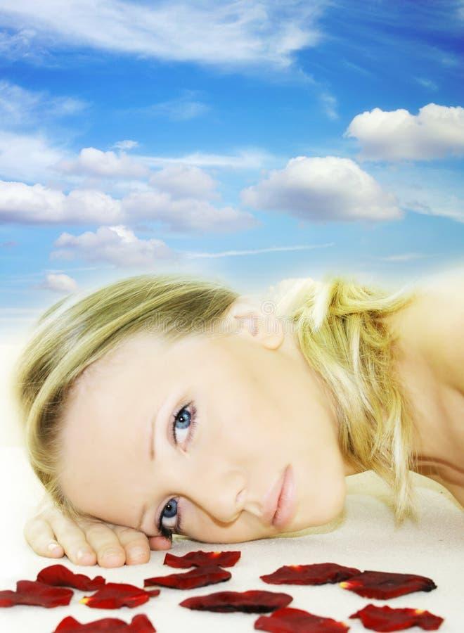 De schoonheidsportret van Wellness royalty-vrije stock afbeeldingen