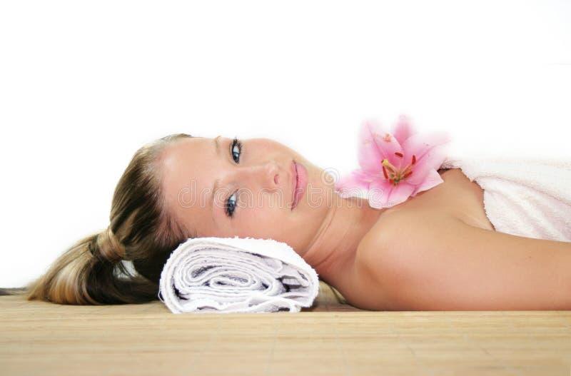 De schoonheidsportret van Wellness stock afbeelding