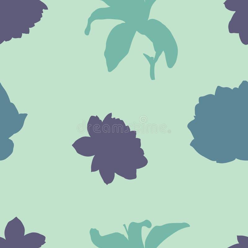 De schoonheidstuin bloeit naadloos patroonontwerp vector illustratie
