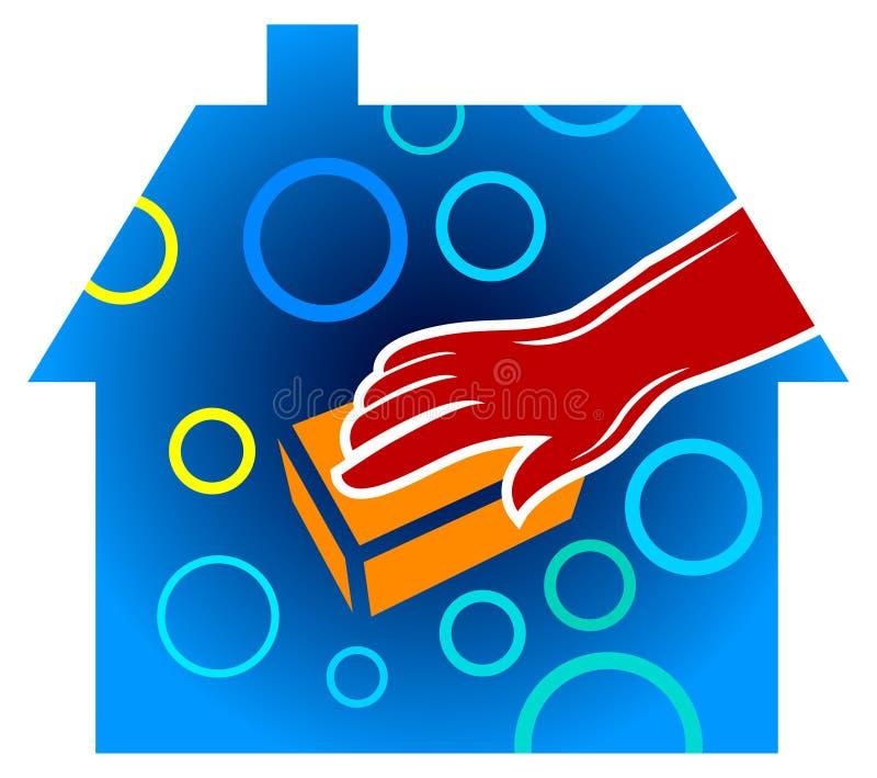 De schoonmakende dienst van het huis royalty-vrije illustratie