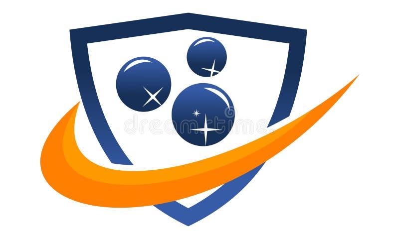 De schoonmakende Diensten Logo Design Template royalty-vrije illustratie