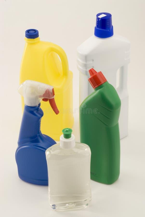 De schoonmakende producten van het huishouden. stock fotografie
