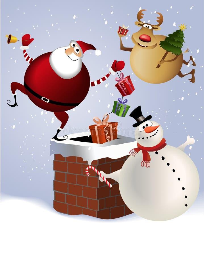 De schoorsteen van Kerstmis royalty-vrije illustratie