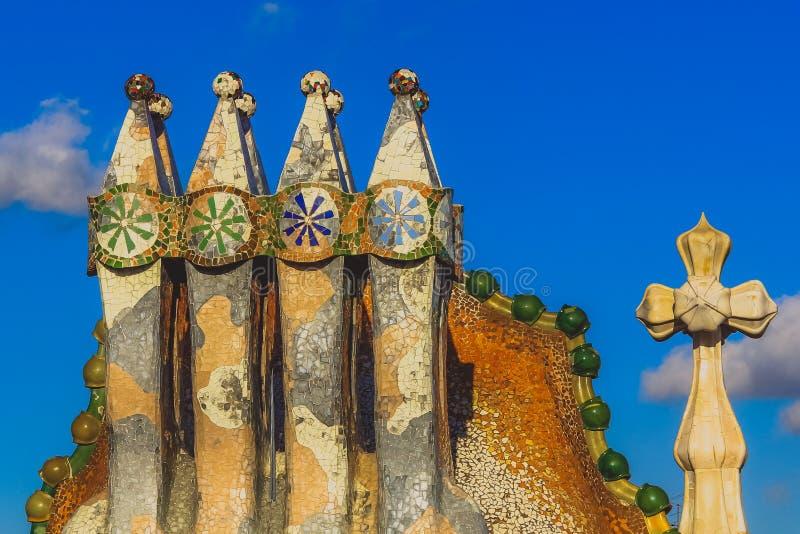 De schoorstenen van Casabatllã ³ royalty-vrije stock foto