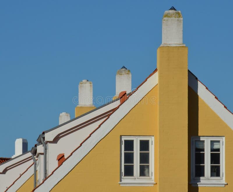 De schoorstenen van Skagen royalty-vrije stock afbeelding