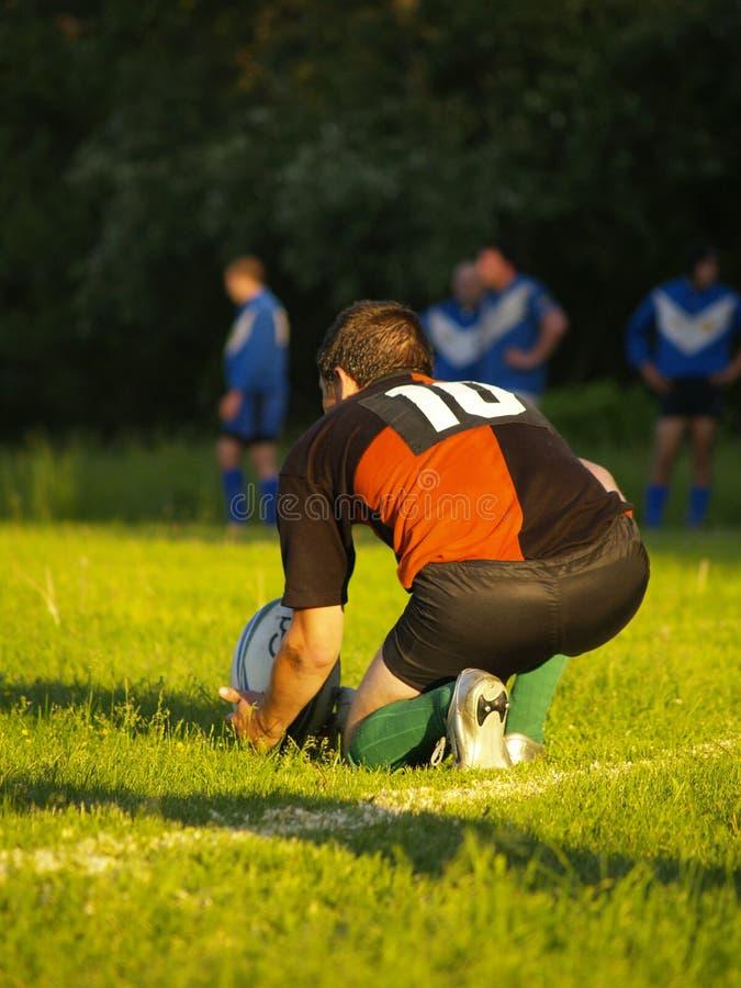 De schop van het rugby royalty-vrije stock afbeeldingen