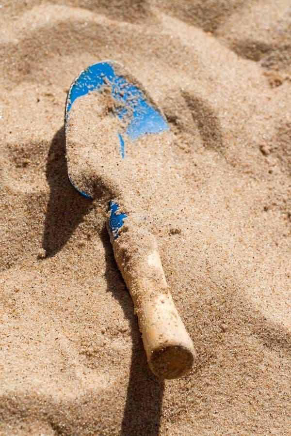 De schop van het strand stock fotografie