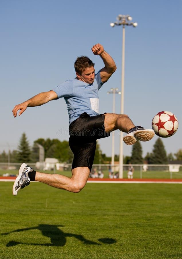 De schop van het voetbal