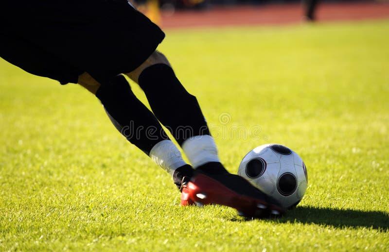 De schop van het voetbal royalty-vrije stock fotografie