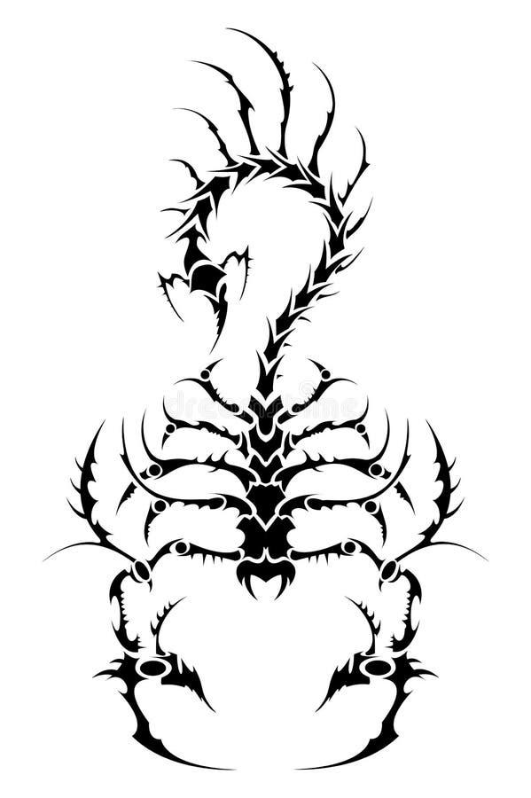 De schorpioen van de tatoegering royalty-vrije illustratie