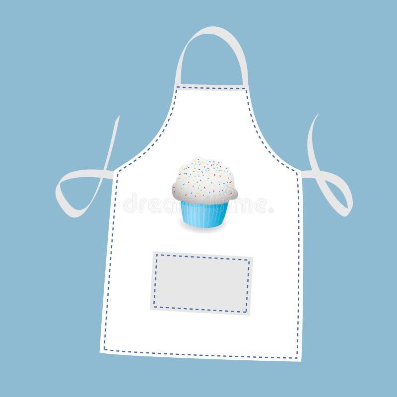 De schort van Cupcake stock illustratie