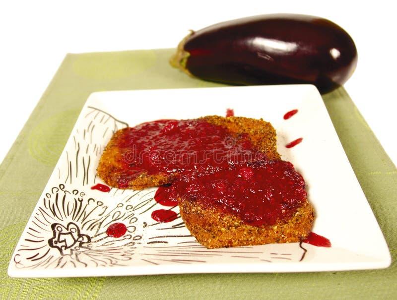 De schotel van de aubergine royalty-vrije stock afbeelding