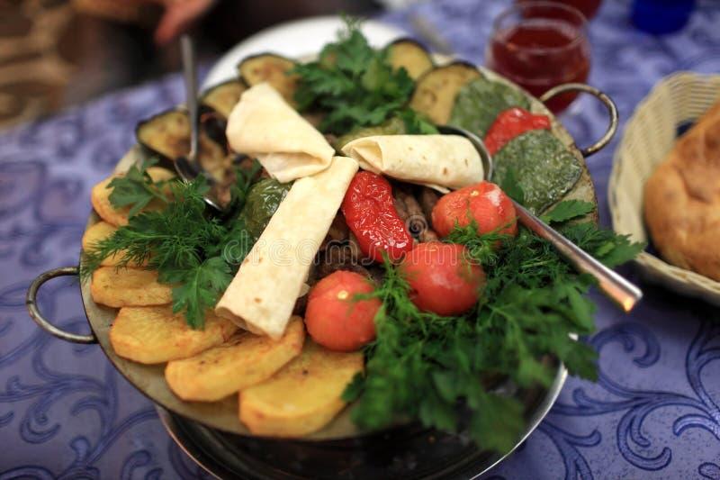 De schotel van de Sajkebab stock afbeelding