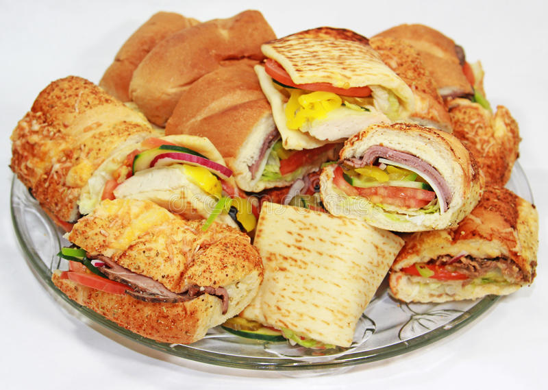 De Schotel van de sandwich royalty-vrije stock afbeeldingen