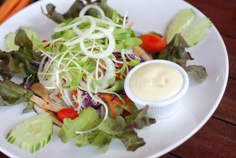 De schotel van de verse groentesalade stock afbeelding