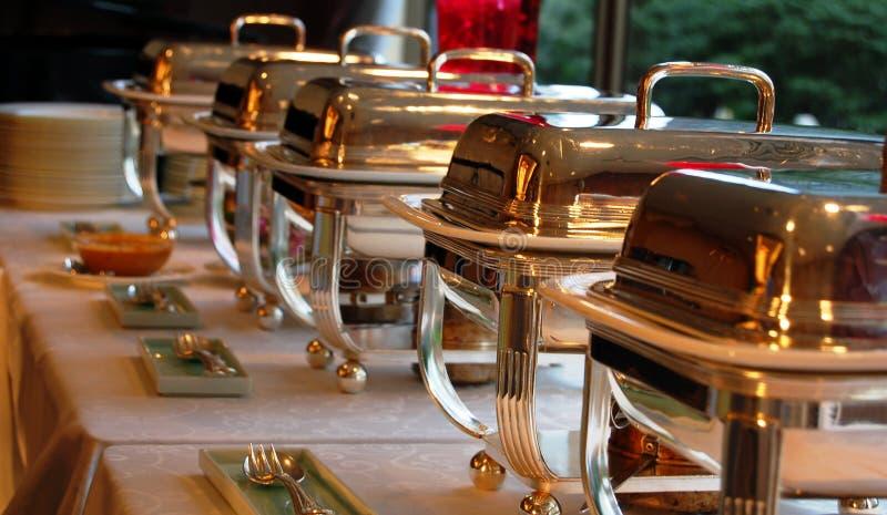 De Schotels van Cheffing stock fotografie