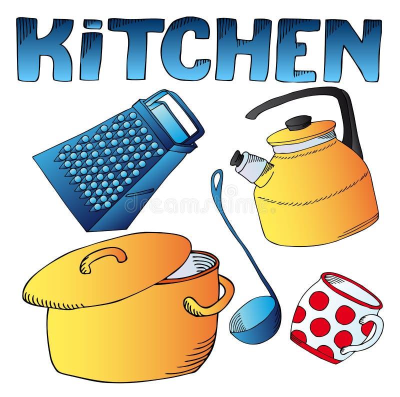 De schotelsinzameling van de keuken vector illustratie