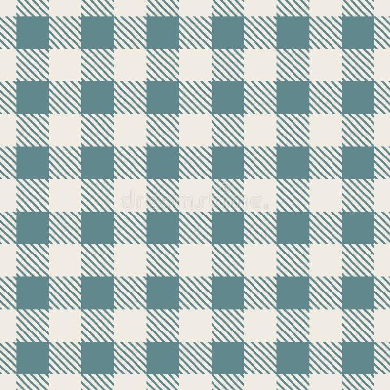 De Schotse achtergrond van de plaidstof voor naadloos patroon Vector illustratie stock afbeelding