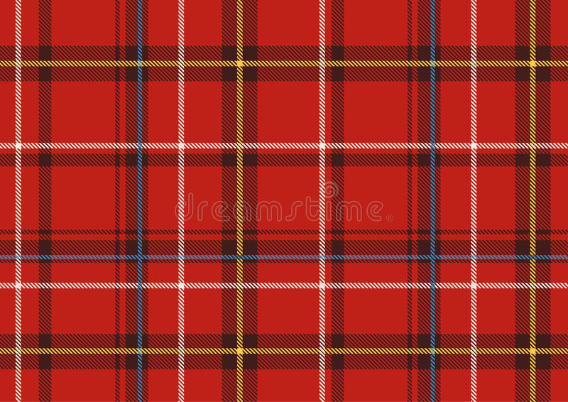 De Schotse plaid royalty-vrije illustratie
