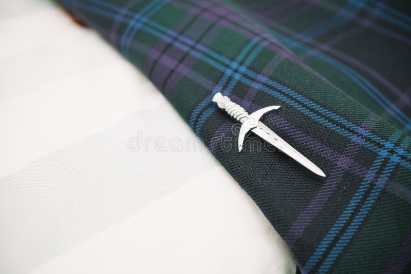 De Schotse speld van de huwelijkskilt royalty-vrije stock afbeelding