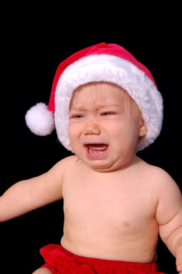 De schreeuwende Baby van de Vakantie royalty-vrije stock afbeeldingen