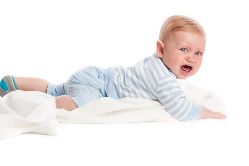 De schreeuwende Jongen van de Baby stock foto's