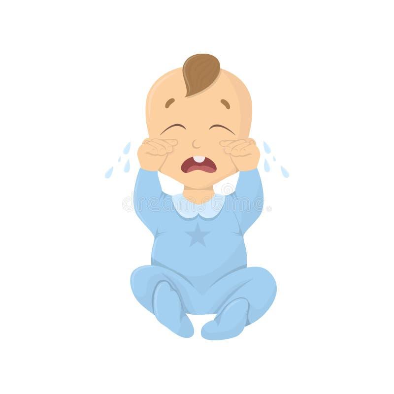 De schreeuwende Jongen van de Baby vector illustratie
