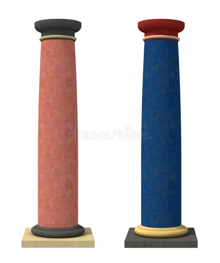 De schrijvers uit de klassieke oudheid colred kolommen royalty-vrije illustratie
