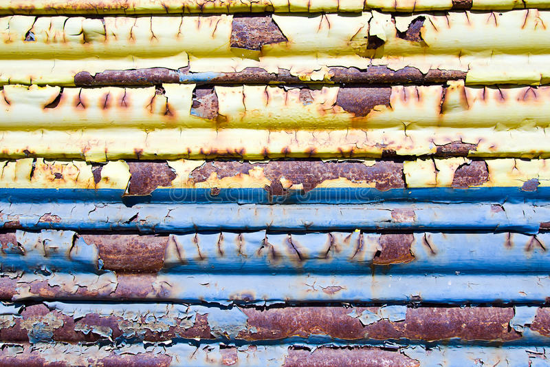 De schuifdeur van het metaal stock foto
