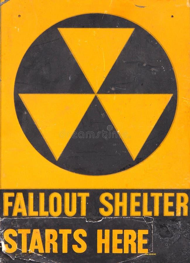 De schuilplaatsteken van de radioactieve neerslag royalty-vrije stock foto's