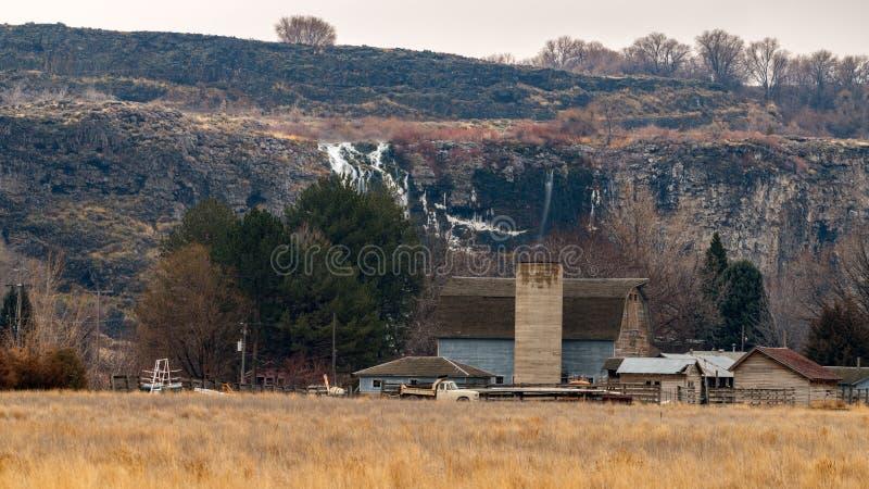 De schuur van het land in Duizend Vallei Idaho van de Lenteshagerman stock foto