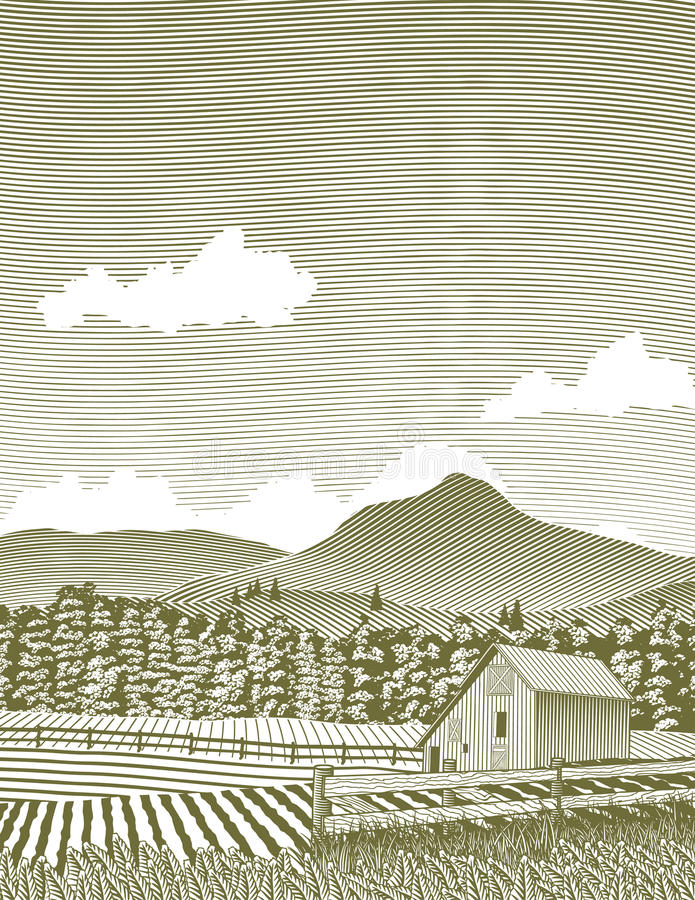 De Schuur van Idaho van de houtdruk royalty-vrije illustratie