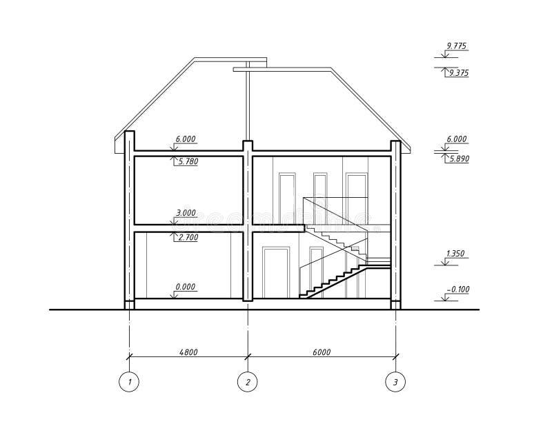 De sectie van het huis vector illustratie