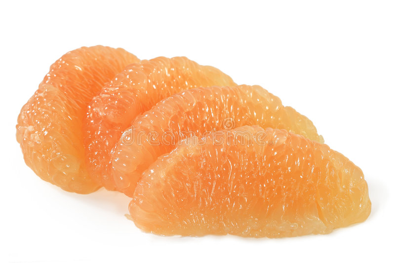 De Secties van de grapefruit stock foto's