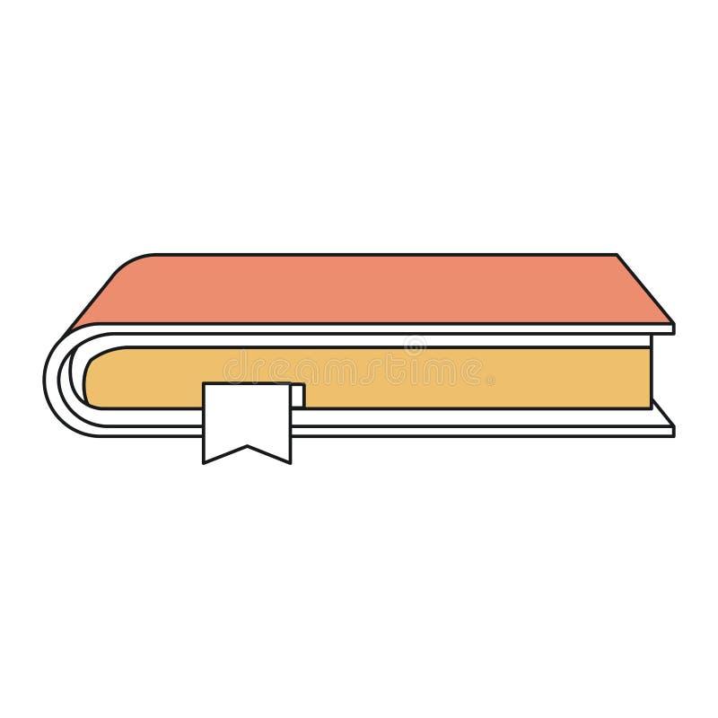 De secties van de silhouetkleur van boek met referentie royalty-vrije illustratie