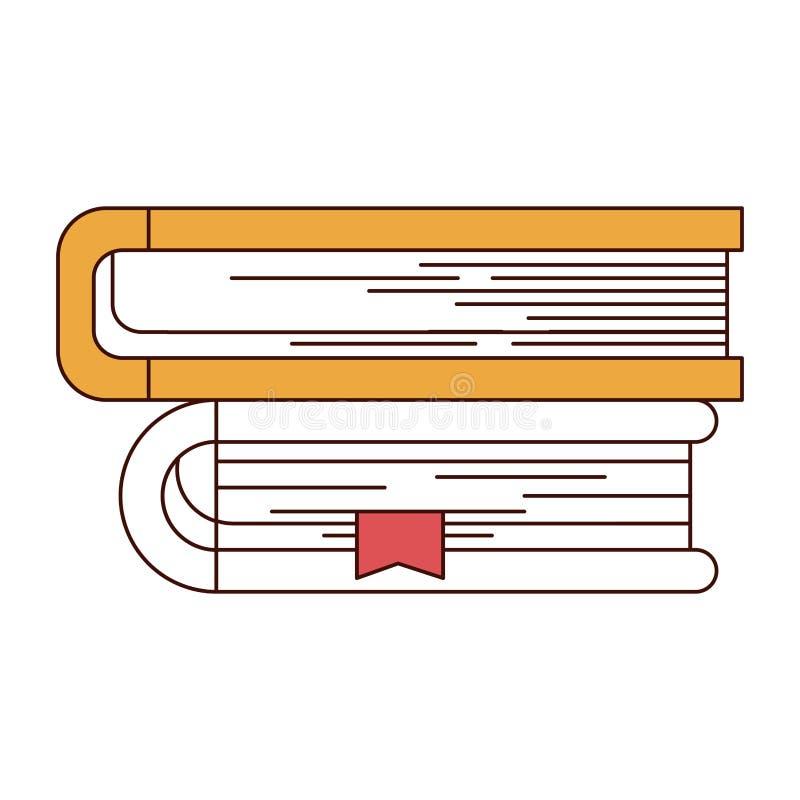 De secties van de silhouetkleur van inzameling van boeken met referentie vector illustratie