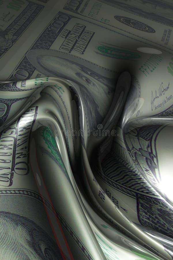 De seda sumário do dinheiro alise e do incandescência ilustração do vetor