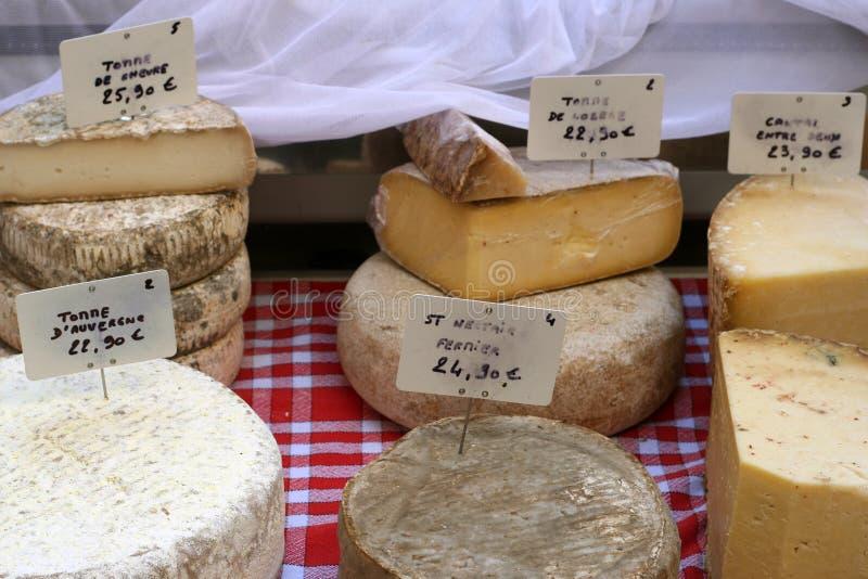 De selectie van de kaas stock afbeelding
