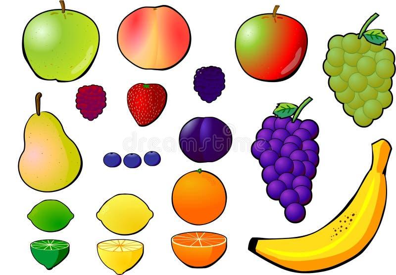 De selectie van het fruit. royalty-vrije illustratie