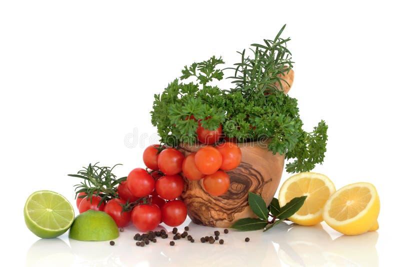 De Selectie van het kruid, van het Fruit en van het Kruid stock afbeeldingen