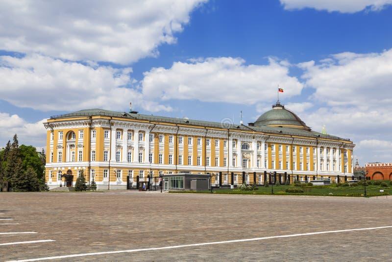 De senaatsbouw in het Kremlin, Moskou, royalty-vrije stock foto